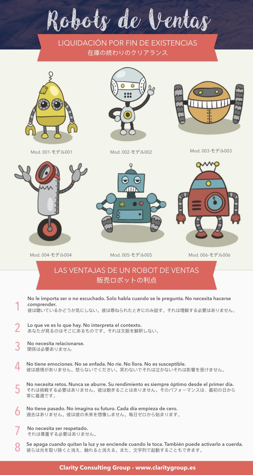 Clarity Robots de ventas infografía